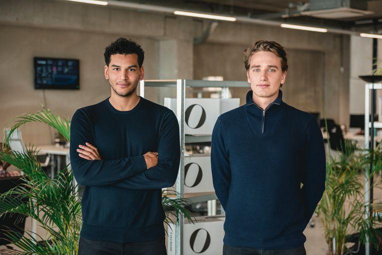 Milan Daniels en Max Klijnstra, eigenaren van webwinkel Otrium Beeld Otrium