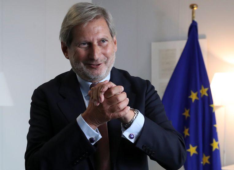 Europees Commissaris voor Begroting en Administratie Johannes Hahn Beeld Reuters