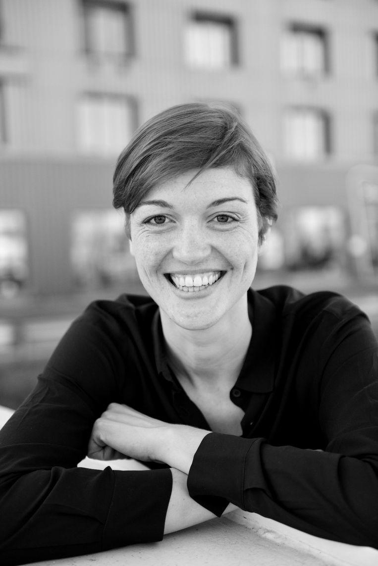 Elisabeth Raes (33) in München, Duitsland. Beeld Foto rv