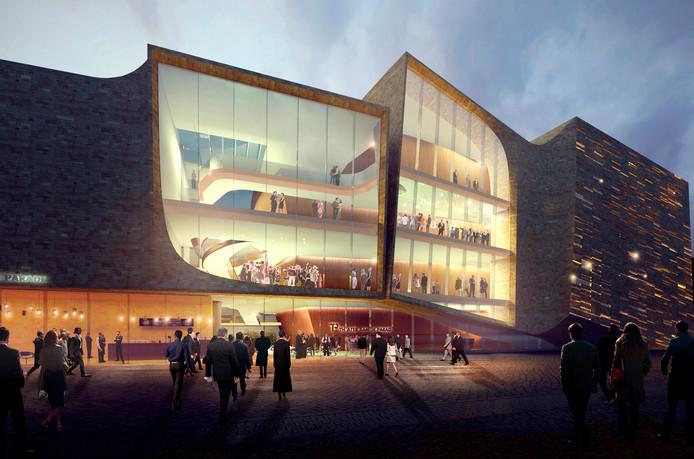 Het ontwerp voor het nieuwe theater van UNStudio.