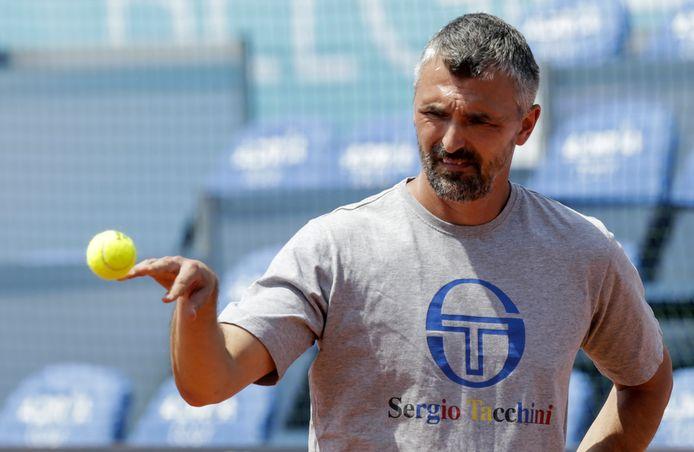 Goran Ivanisevic, de coach van Djokovic.