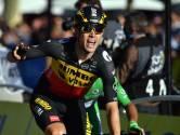 La joie de Wout van Aert après sa victoire sur les Champs