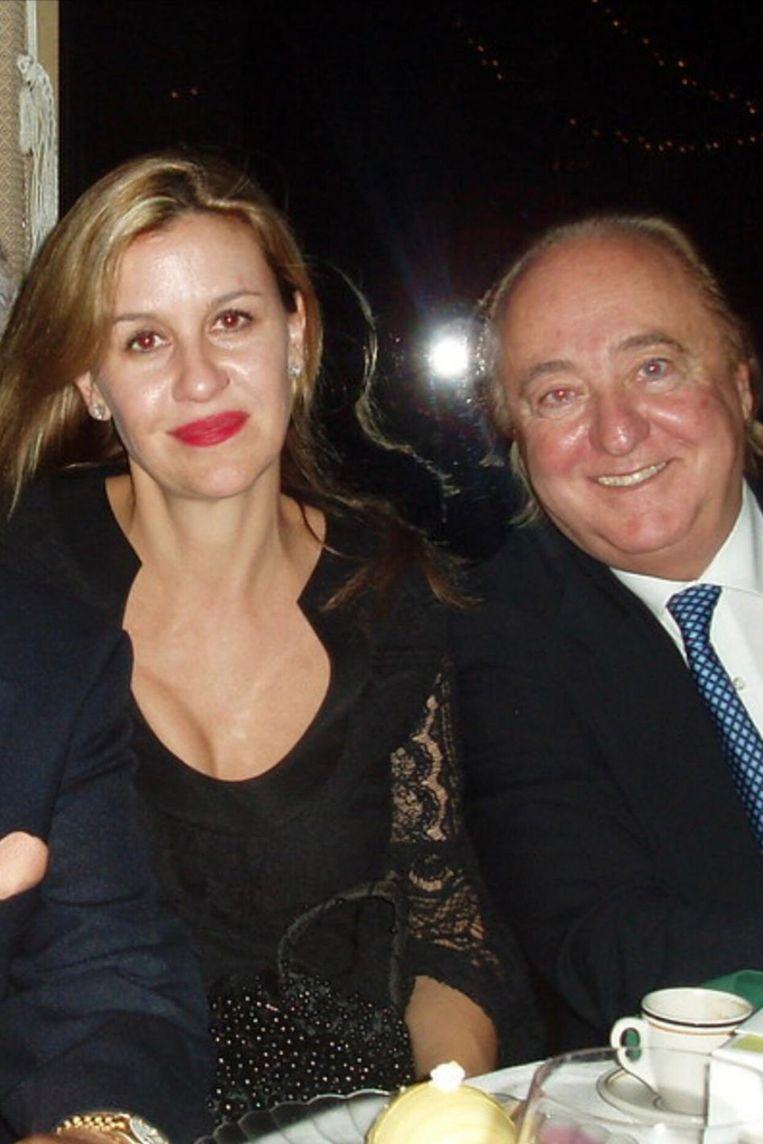Patricia Gucci en haar ex, Joseph Ruffalo.  Beeld Foto: Alexandra Zarini