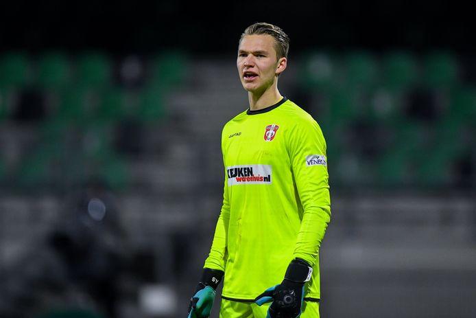Anthony Swolfs in één van zijn laatste matchen voor FC Dordrecht.