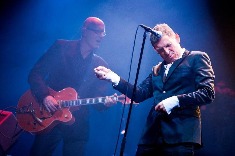Huub van der Lubbe van De Dijk tijdens een van zijn 75 optredens in Paradiso Beeld anp