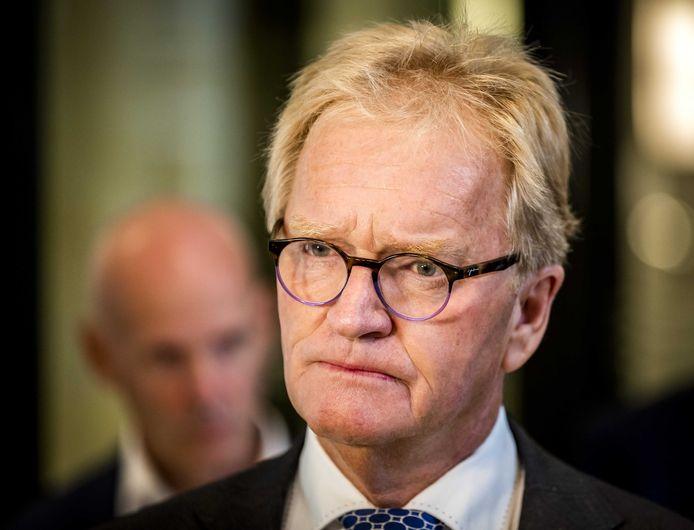 Hans de Boer in augustus vorig jaar na afloop van een overleg over een steunpakket en de begroting voor 2021.