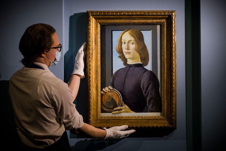 Het werk van Botticelli dat onder de hamer komt. Beeld Getty