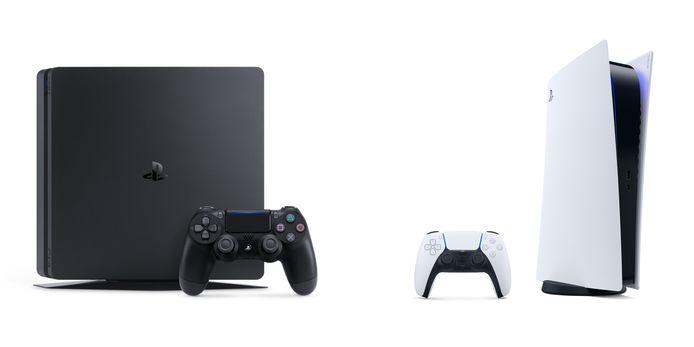 Links: Playstation 4, rechts: Playstation 5