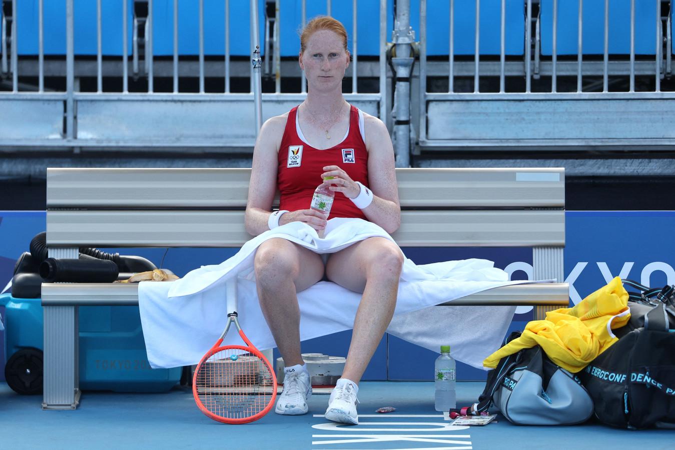 Alison Van Uytvanck est tombée en huitième de finale sous les coups de Garbine Muguruza.