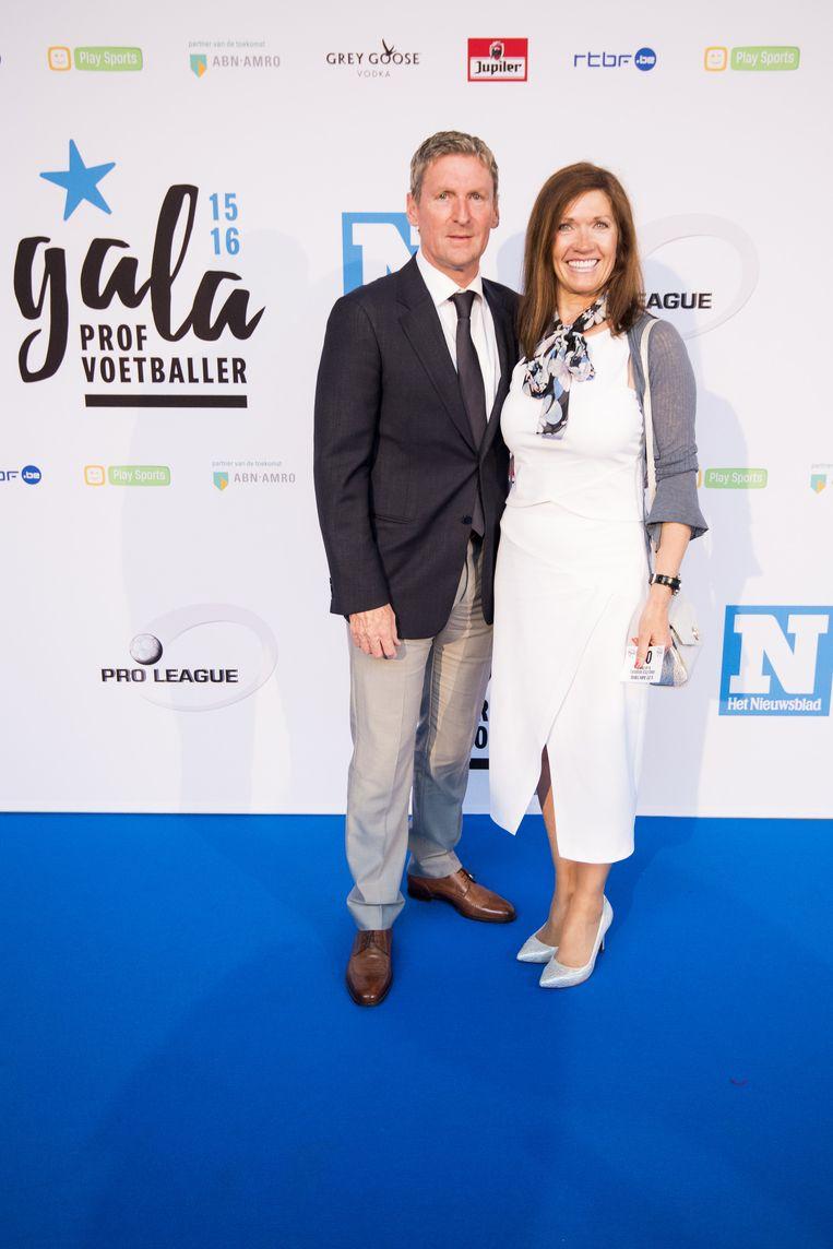 Francky Dury samen met zijn vrouw.