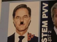 Gemeente verwijdert posters van VVD-lijsttrekker Mark Rutte met Hitlersnor