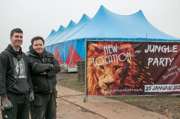 Organisatoren Jeroen Van Hoye en Renaat Rooms van de Jungle Party.