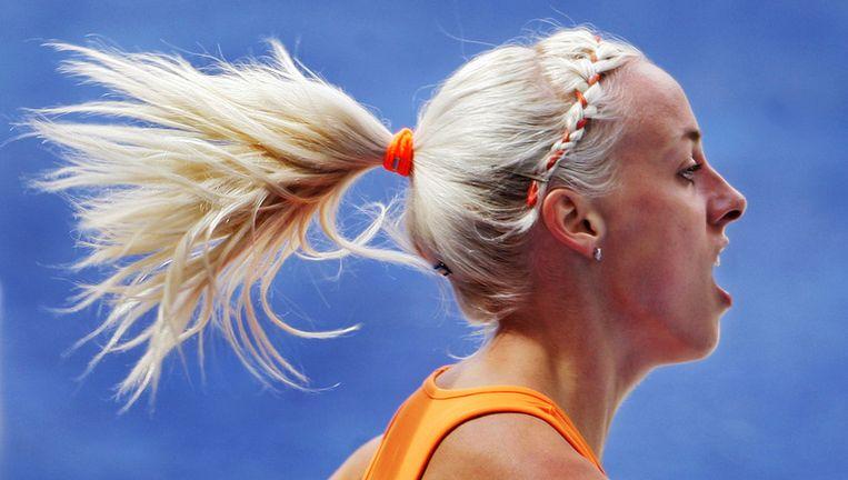 Susan Kuijken viel halverwege de 1500 meter ver terug. Foto ANP Beeld