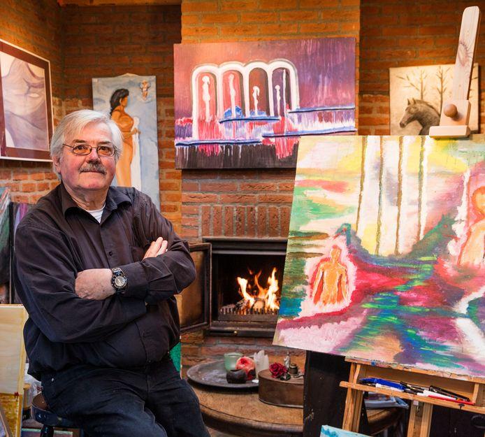 Theo van Leipsig in zijn atelier