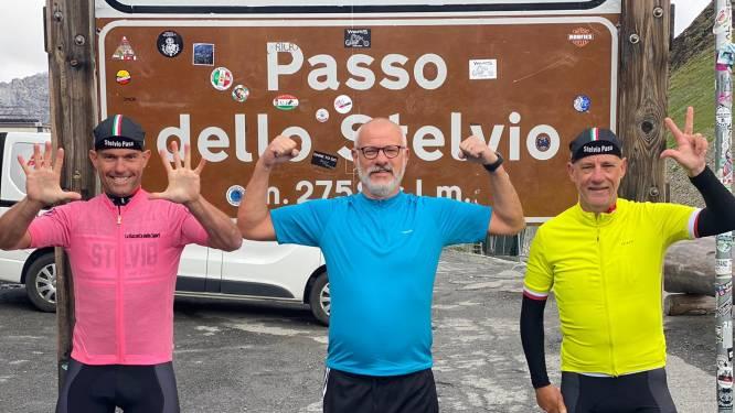 Mamma mia! Luc (51) en Johan (58) bedwingen de Stelvio twee keer in twee dagen
