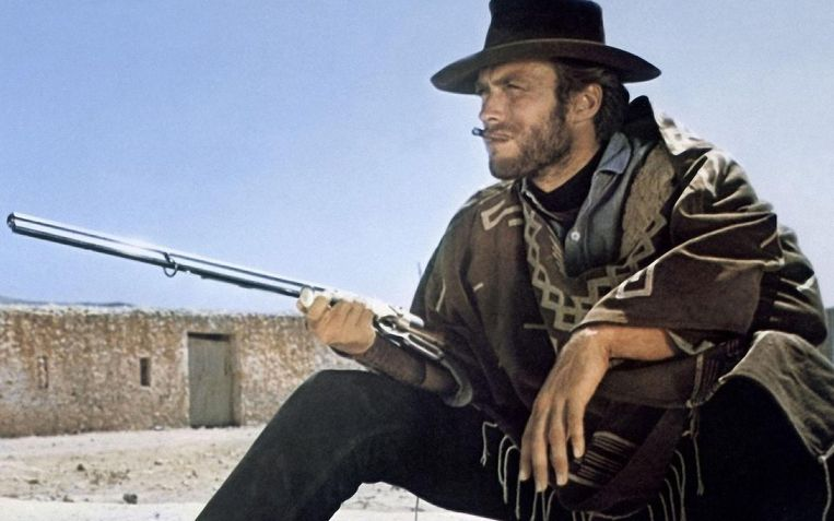 Clint Eastwood in For a Few Dollars More (Sergio Leone, 1965). Beeld