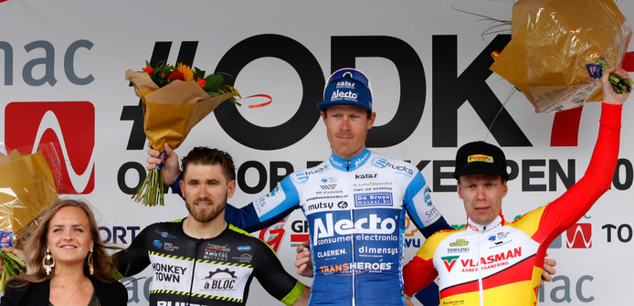 Rene Hooghiemster namens Alecto Cycling Team tijdens Omloop der Kempen in Veldhoven