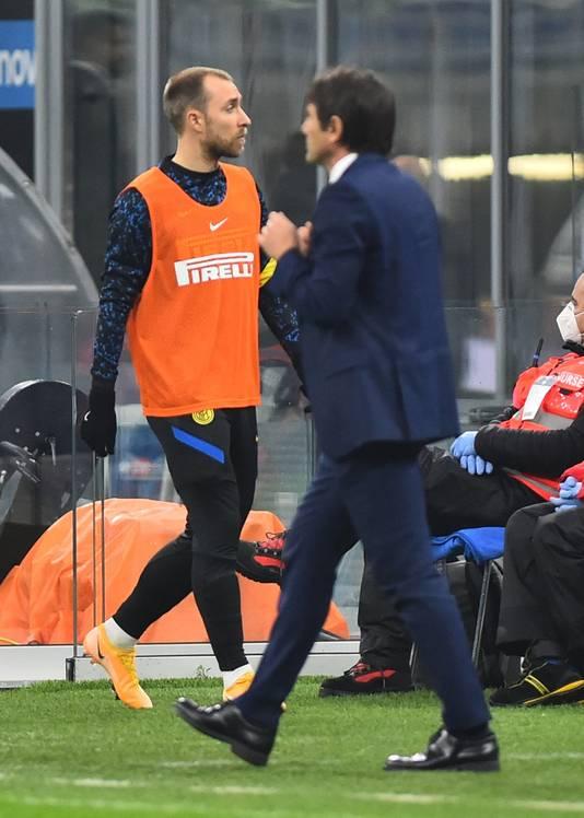 Christian Eriksen komt amper in de plannen van Antonio Conte voor.