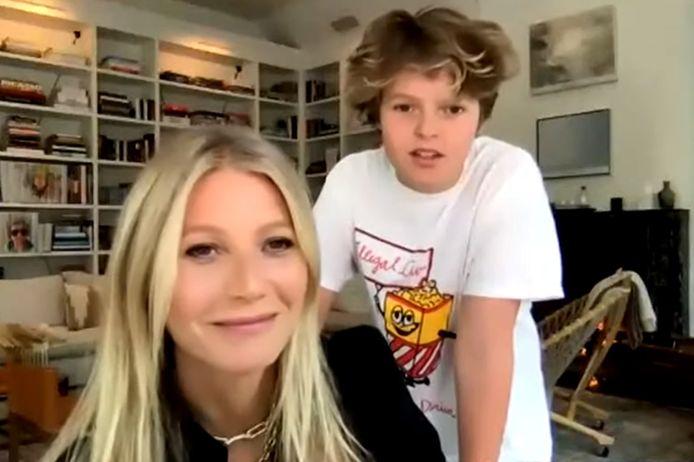 Gwyneth Paltrow et son fils Moses qu'elle a eu avec le chanteur Chris Martin.