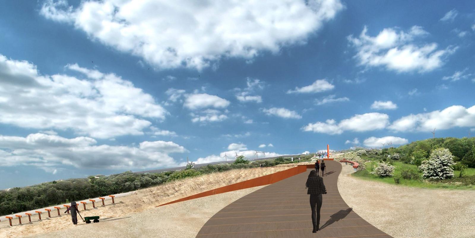 Met behulp van geld uit Den Haag is onder meer de strandopgang bij de Banjaard opgeknapt.