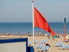 Zwemmen voor de Haagse kust is gevaarlijk: rode vlag gehesen