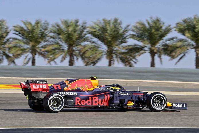 Sergio Pérez in zijn Red Bull.