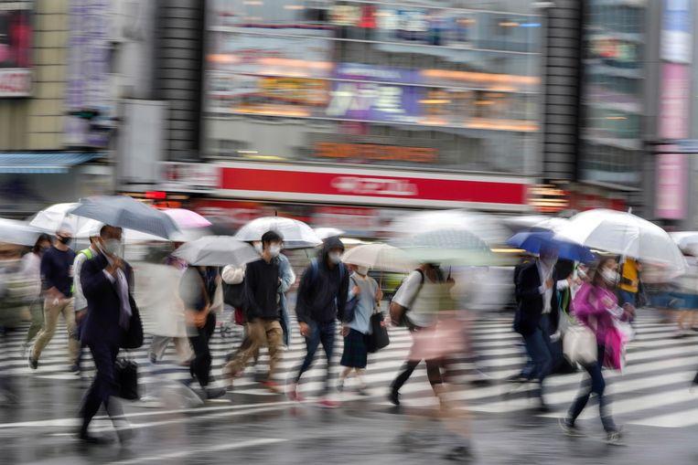 In Japan blijft het aantal nieuwe coronabesmettingen beperkt tot 326 per dag, ondanks de 126 miljoen inwoners. Beeld EPA