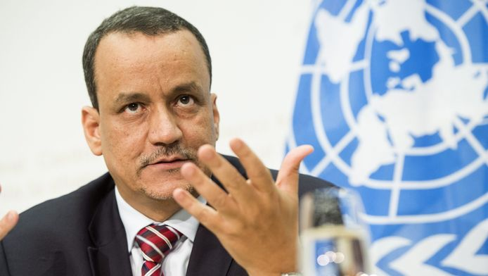 De speciale VN-gezant voor Jemen, Ismail Ould Cheikh Ahmed.