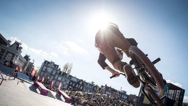 BMX- en skatewedstrijden op het Museumplein Beeld Tim Buitenhuis/TIG Sports