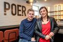 Klaas Devriendt en Kim Decock in hun restaurant POER.
