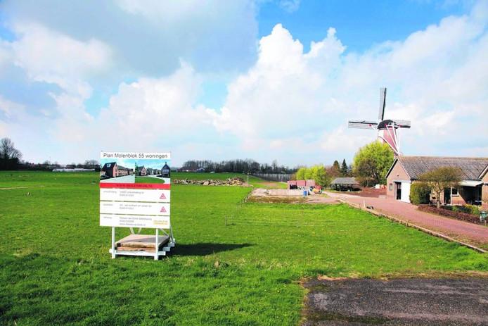 Nieuwbouw in Varik. Straks voor eilandbewoners?Foto Jan Bouwhuis