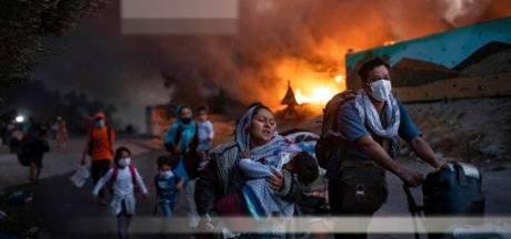 Demonstranten van 'Lopend Vuur' in actie voor situatie in vluchtelingenkampen