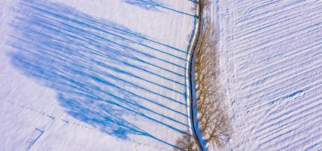 Lange schaduwen over witte akkers: winters plaatje in oud Oisterwijks buurtschap