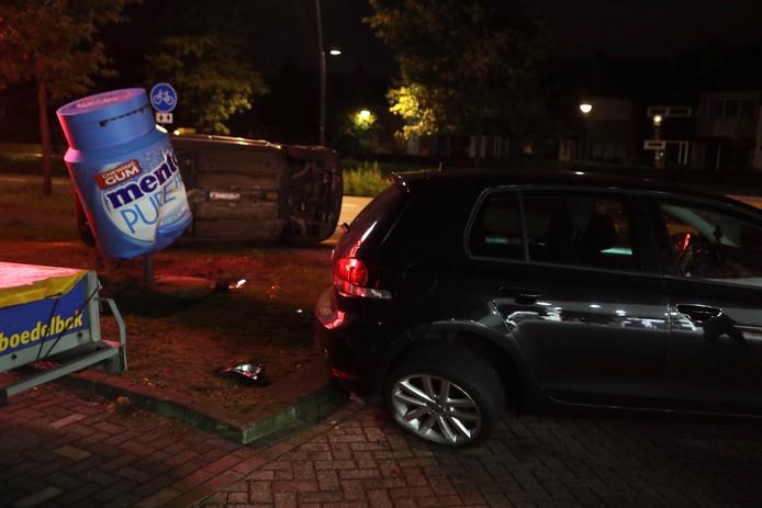 Twee voertuigen botsten tegen elkaar in Boxtel.