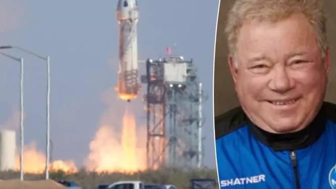 Touchdown! 'Star Trek'-acteur William Shatner (90) succesvol gelanceerd én geland met Blue Origin-raket van Jeff Bezos