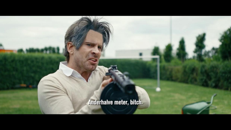 Kevin Janssens in Humo-blockbuster 'Van Ranst'. Beeld Humo