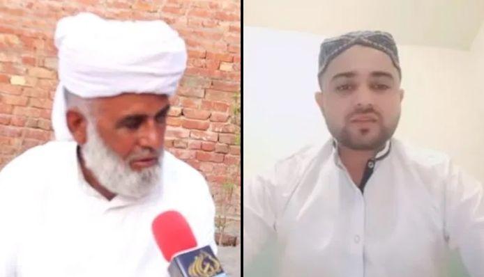 Zaheer Hassan Mehmood, le terroriste présumé (à droite) et son père