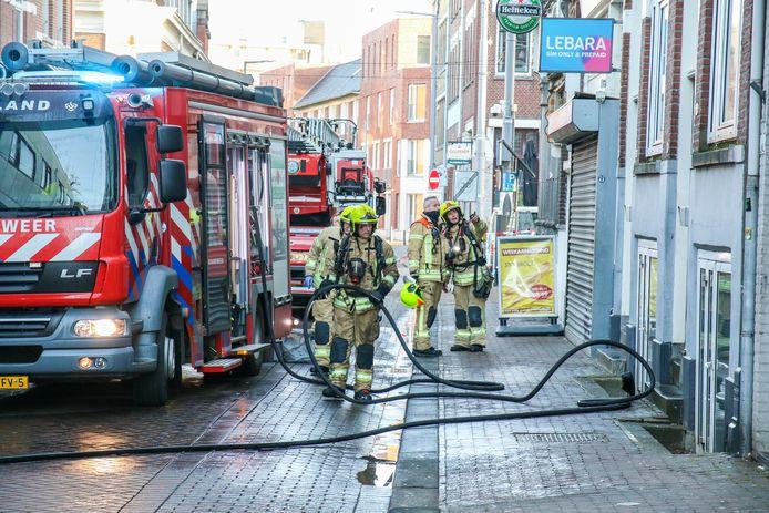 De brandweer had het vuur binnen een half uur onder controle.