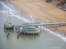 Strandtenten in benen voor schoon strand