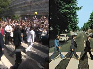 La photo mythique d'Abbey Road des Beatles a 50 ans