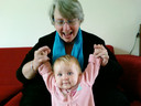 Birgit met kleindochter Julia
