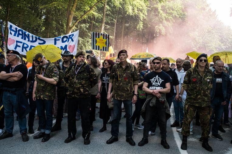 De Nederlandse groep In het Gelid voor Vrijheid Beeld Wouter Maeckelberghe