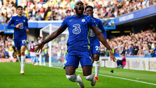Meteen een tweeklapper! Lukaku opent ook op Stamford Bridge zijn rekening en helpt Chelsea met fraaie goals aan zege tegen Aston Villa