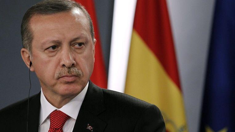 De Turkse premier Recep Tayyip Erdogan Beeld epa