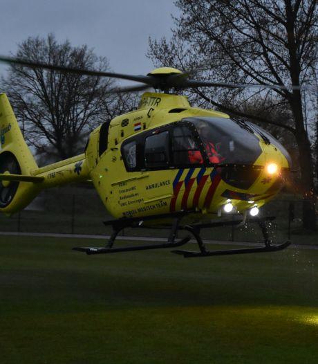 Traumahelikopter geland in Gouda na ongeval in woning