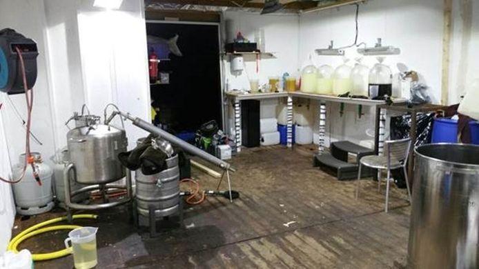 Het drugslab in Zuidwolde.