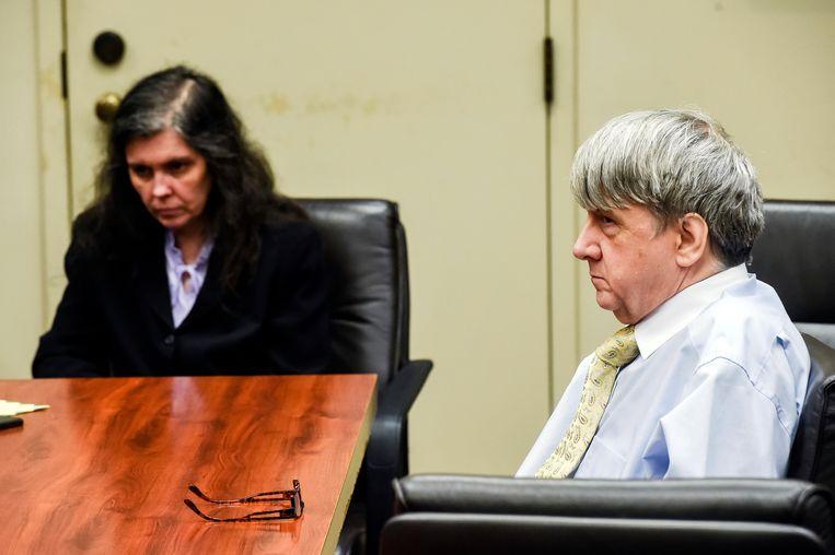 Louise Turpin en haar man David tijdens de rechtszaak.