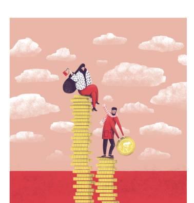 Ongelijkheid stijgt, behalve in België