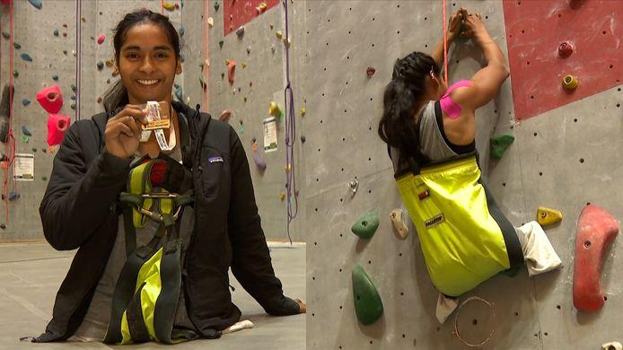 Belgische Pavitra (23) wint goud op WK paraklimmen