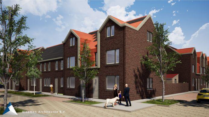Impressie van de nieuwbouw in het Rode Dorp.